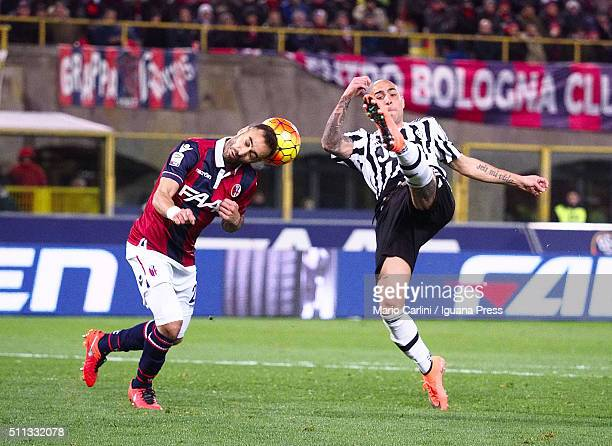 Simone Zaza of Juventus FC in action during the Serie A match between Bologna FC and Juventus FC at Stadio Renato Dall'Ara on February 19 2016 in...