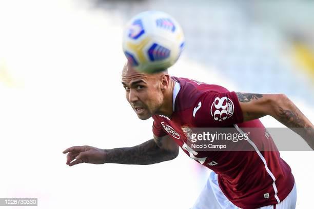 Simone Zaza of Torino FC eyes the ball during the Serie A football match between Torino FC and Atalanta BC. Atalanta BC won 4-2 over Torino FC.