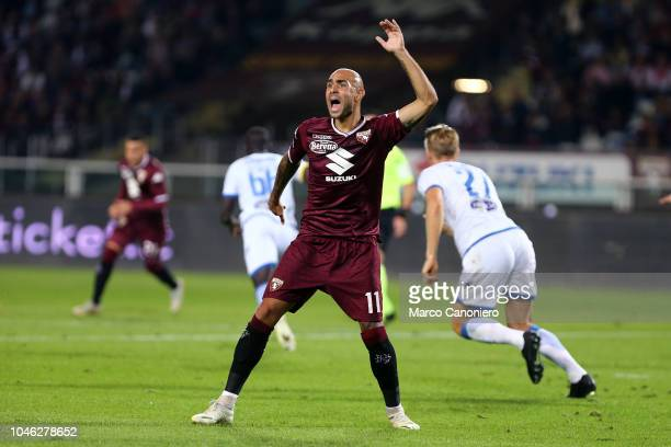 Simone Zaza of Torino FC gestures during the Serie A football match between Torino Fc and Frosinone Calcio Torino Fc wins 32 over Frosinone Calcio