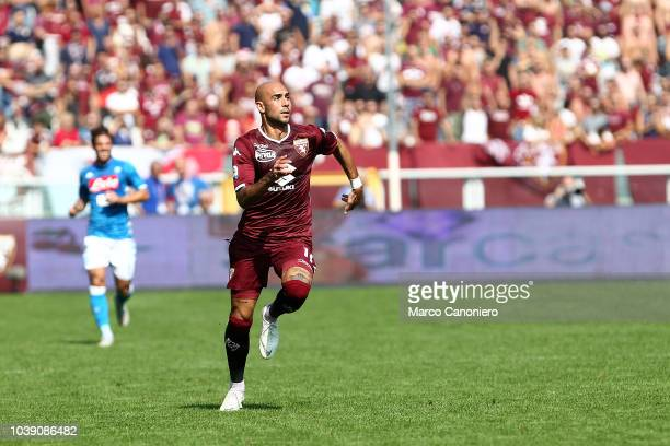 Simone Zaza of Torino FC in action during the Serie A football match between Torino Fc and Ssc Napoli