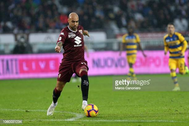 Simone Zaza of Torino FC in action during the Serie A football match between Torino Fc and Parma Calcio Parma Calcio wins 21 over Torino Fc