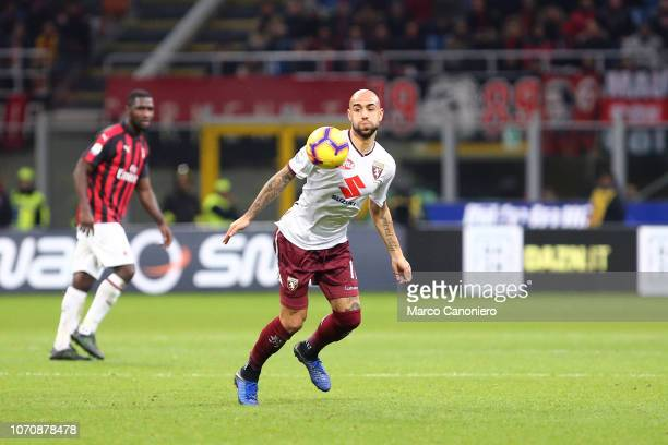 Simone Zaza of Torino FC in action during the Serie A football match between Ac Milan and Torino Fc The match end in a tie 00