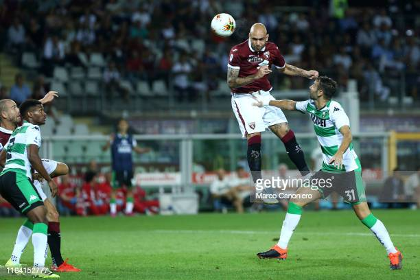 Simone Zaza of Torino FC in action during the the Serie A match between Torino Fc and Us Sassuolo Calcio Torino Fc wins 21 over Us Sassuolo Calcio