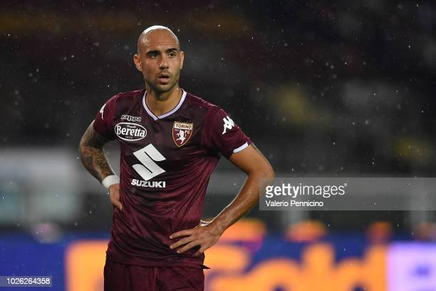 Simone Zaza of Torino FC looks on during the Serie A match between Torino FC and SPAL at Stadio Olimpico di Torino on September 2 2018 in Turin Italy