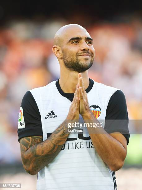 Simone Zaza of Valencia CF looks on during the La Liga match between Valencia CF and Sevilla FC at Estadio Mestalla on october 21 2017 in Valencia...