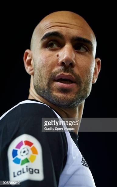 Simone Zaza of Valencia looks on prior the Copa Del Rey 1st leg match between Valencia and Alaves at Estadio Mestalla on January 17 2018 in Valencia...