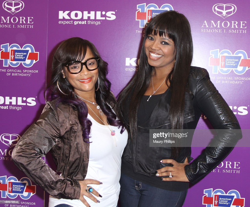 SimoneI. Smith and Shanice Wilson attend Amore by Simone I. Smith Collection Debut at Kohl's on October 26, 2013 in Los Angeles, California.