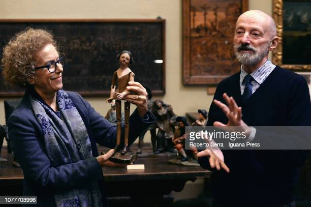 Simonetta Maione curator of the Museum Giannettino Luxoro and Giulio Sommariva President of the Genova's Civic Museums Association attends the...