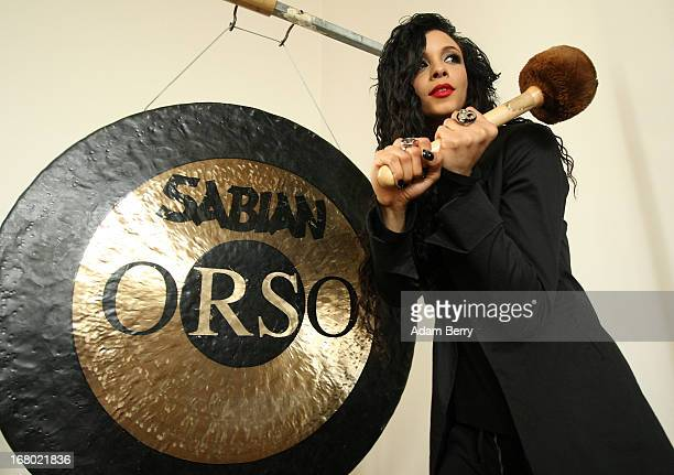 Simonne Jones musician and artist poses during a rehearsal for the ORSO RockSymphonyNight in the Evangelische PhilippusNathanael Kirchengemeinde...