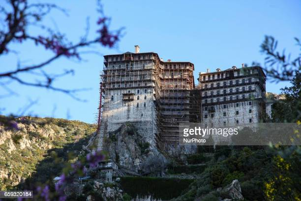 Simonopetra monastery a 13th century monastery in Mount Athos the holy peninsula that hosts 20 monasateries with 2500 Christian Orthodox monks The...