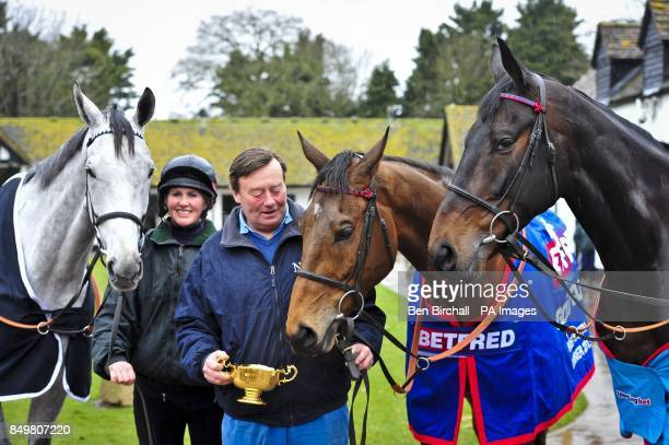 Simonsig Winner of the Racing Post Arkle Chase Gold Cup winner Bobs Worth, centre, and winner of the Queen Mother Champion Chase Sprinter Sacre with...