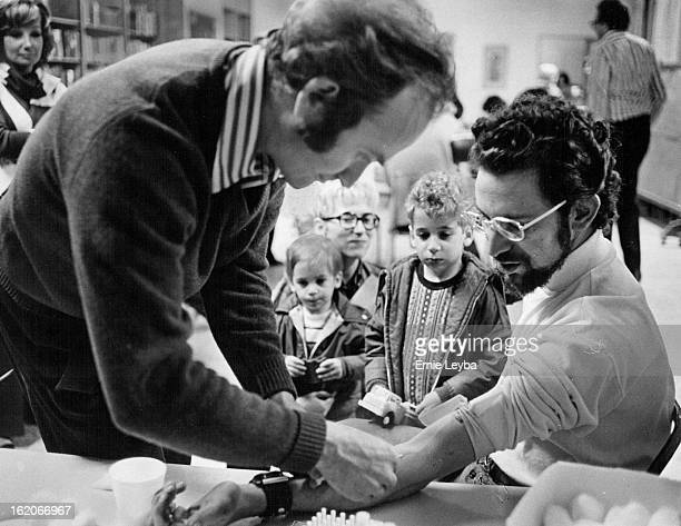 MAR 5 1973 MAR 7 1973 MAR 18 1973 Simple blood test can detect TaySachs gene carriers Dr Arnie Greensher takes blood from Richard Radetsky family...