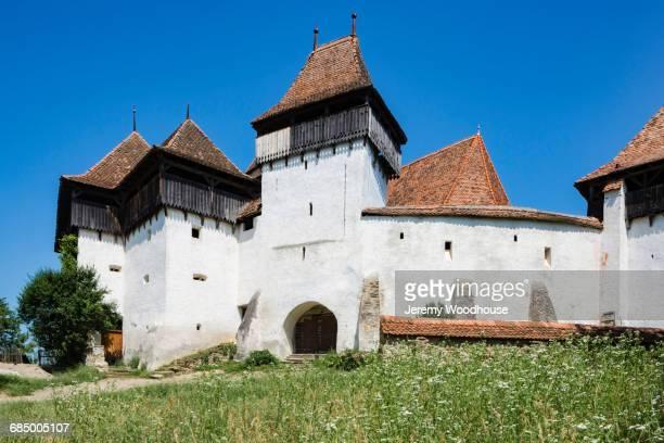 Simple church, Viscri, Transylvania, Romania