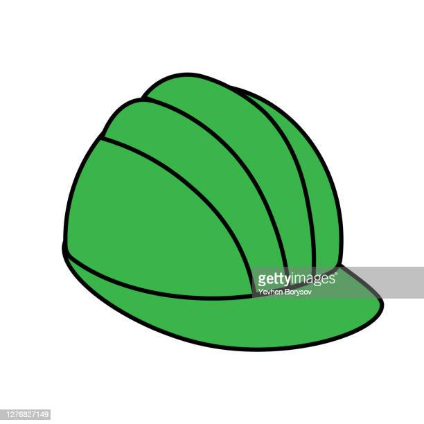 simple construction safety work helmet line style icon - graphic accident photos stock pictures, royalty-free photos & images