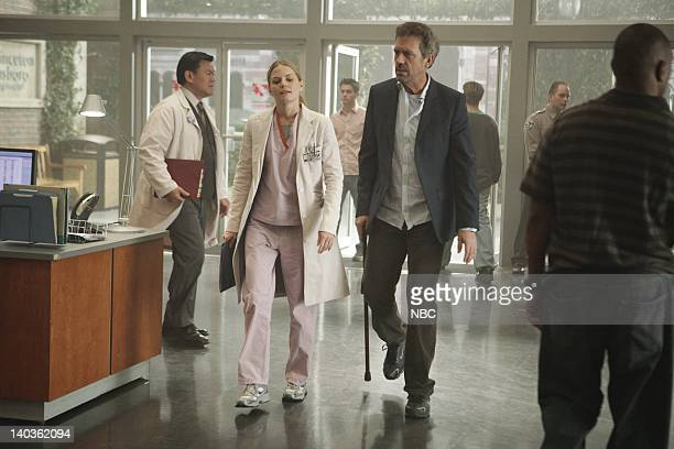 HOUSE Simple Explanation Episode 520 Airdate Pictured Jennifer Morrison as Cameron Hugh Laurie as House Photo by Adam Taylor/NBCU Photo Bank