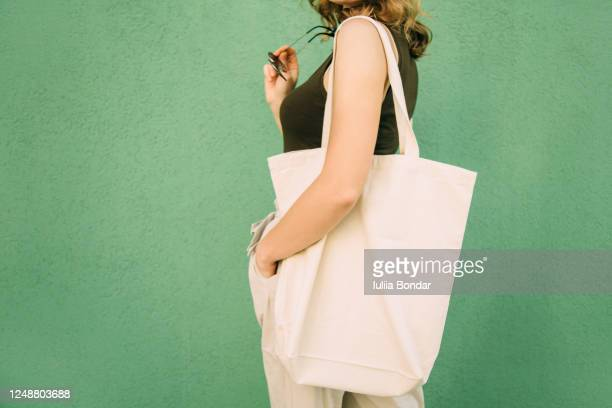 simple flax eco bag - reusable bag stock pictures, royalty-free photos & images