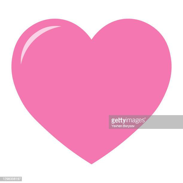 simple illustration of heart icon for st. valentines day - heart shape stock pictures, royalty-free photos & images