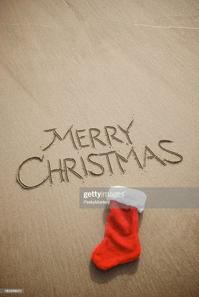Simple merry christmas holiday greeting message smooth brown sand simple merry christmas holiday greeting message smooth brown sand stock photo m4hsunfo