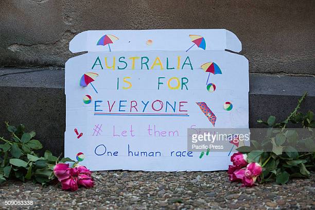 A simple message by one protester of what Australia stands for With mounting public and political pressure against the Australian Federal Government...