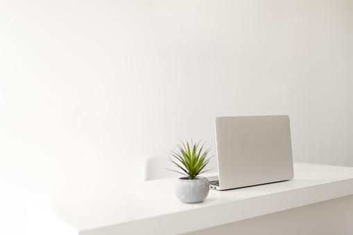 Simple minimalist modern office desk 1160883936