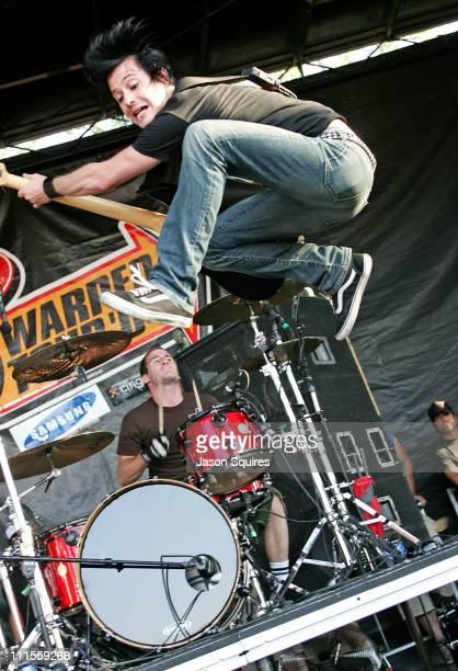 Simple Plan during 2004 Vans Warped Tour Kansas City at Verizon Wireless Amphitheater in Bonner Springs Kansas United States