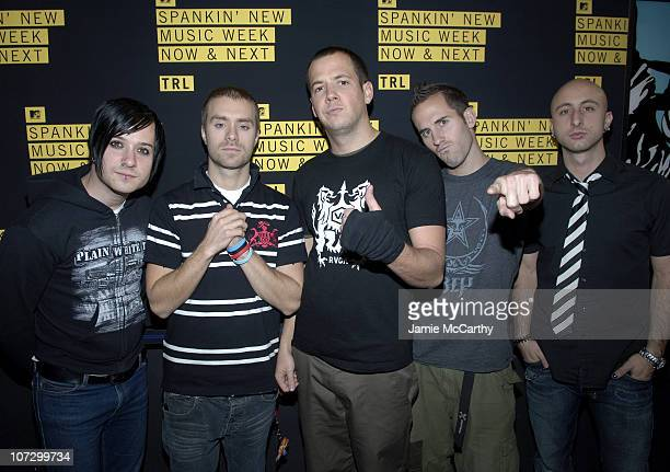 Simple Plan during MTV's TRL Spankin' New Music Week Simple Plan Chris Brown The Veronicas and OAR November 8 2005 at MTV Studios Times Square in New...