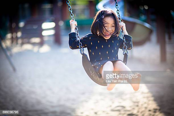 simple pleasures - swinging stock pictures, royalty-free photos & images