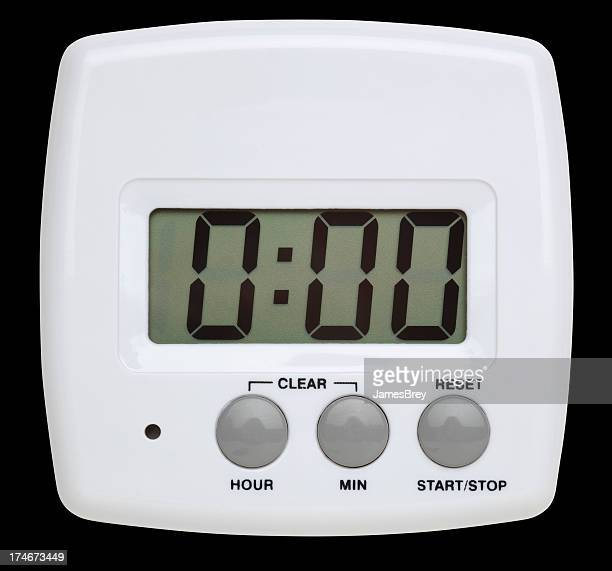 Simple White Digital Timer With Clipping Path