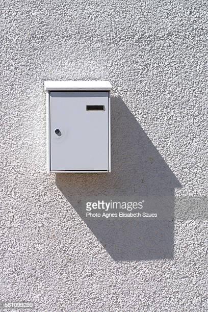 Simple white mailbox & shadow