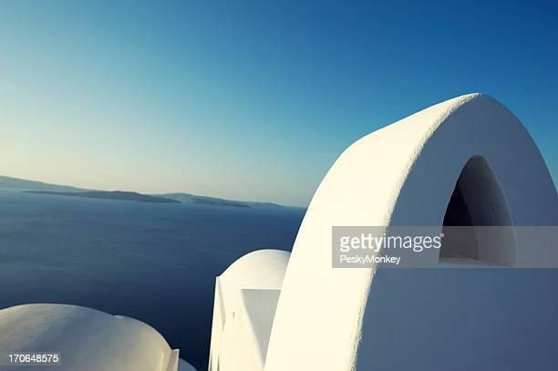 Simple en stuc blanc Église de Grèce Architecture ciel bleu