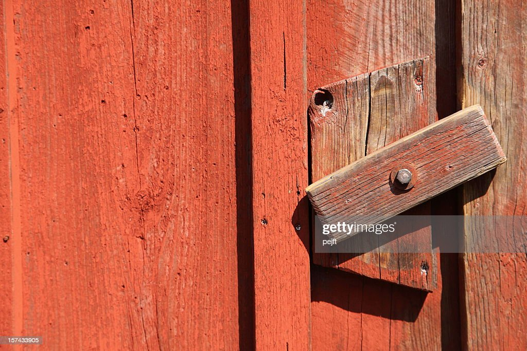 Simple wooden lock : Stock Photo