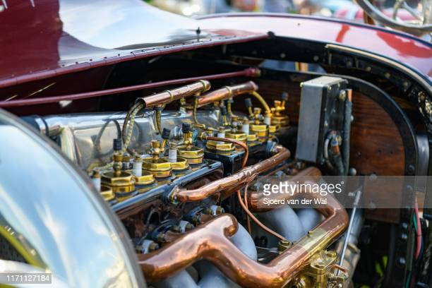 Simplex Crane Model 5 Sport Speedster engine vintage pre war 1916 classic car on display at the 2019 Concours d'Elegance at palace Soestdijk on...