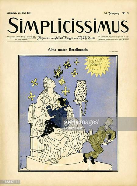 Simplicissimus cover 29th May 1911 Alma mater Berolinensis by Thomas Theodor Heine In 1911 the newly founded Kaiser Wilhelm Society supported the...