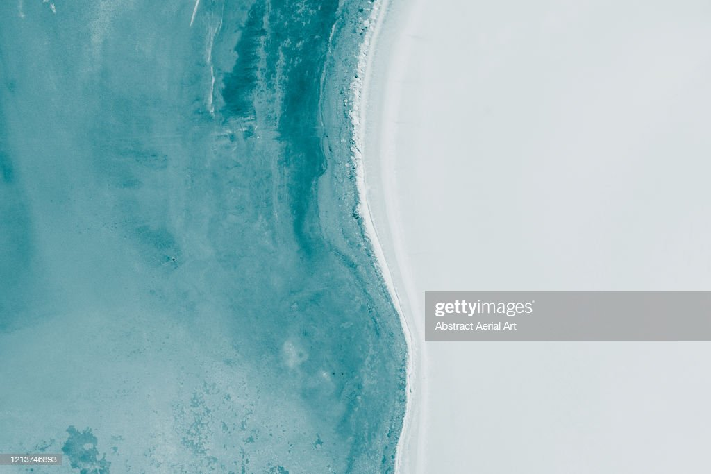Simplistic aerial shot above Lake Dumbleyung, Australia : Photo