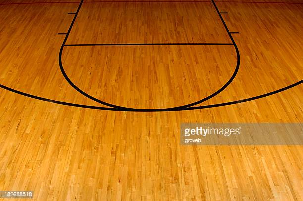 simplistic aerial view of a basketball court - basketball court stock pictures, royalty-free photos & images