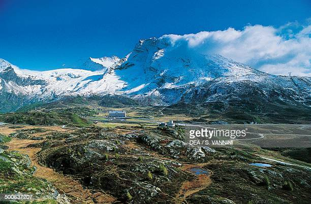 Simplon pass with Mount Breithorn in the background Valais Switzerland