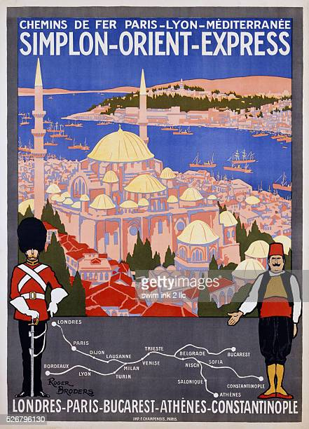 SimplonOrientExpress Poster by Roger Broders