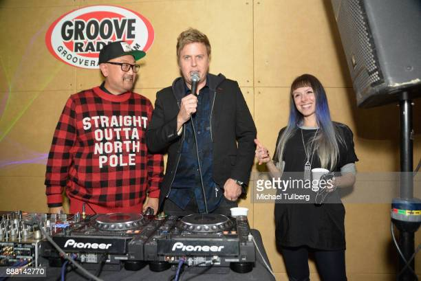 Simply Jeff Christian B and Reid Speed attend Groove Radio's 14th annual Holiday Groove live broadcast and toy drive on December 7 2017 in Los...