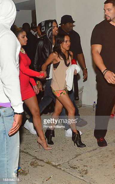 Simply Jess Karrueche Tran and Chris Brown attends the BET Hip Hop Awards 2012 after party at Club Compound on September 29 2012 in Atlanta Georgia