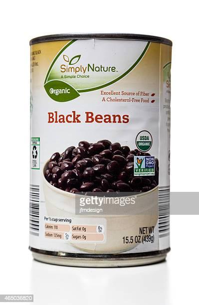 オーガニックで自然の豆はブラック