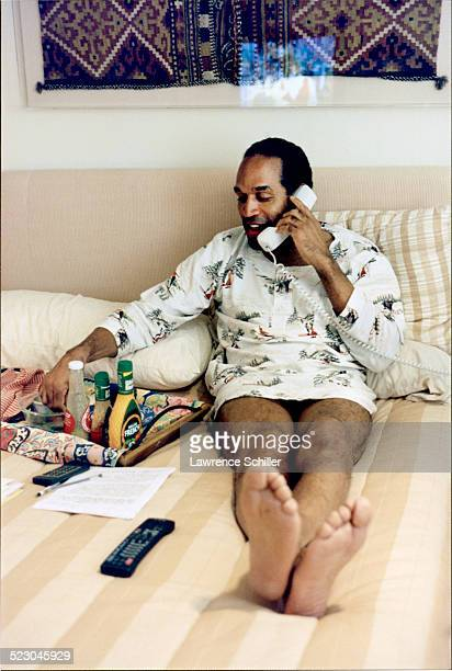 J Simpson after his acquittal at a hotel in Florida