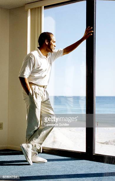Simpson after his acquittal, at a hotel in Florida.