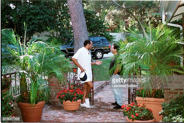 J Simpson after his acquittal at his home in Brentwood with Robert Kardashian