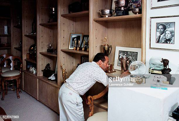 J Simpson after his acquittal at home in Brentwood