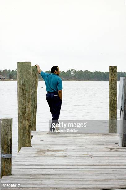 Simpson after his acquittal, at the water's edge in Florida.