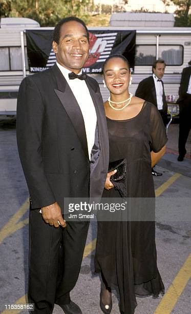 OJ Simpson and daughter Arnelle Simpson during Warwick Foundation AIDS Concert Gala at Universal Amphitheater in Universal City California United...