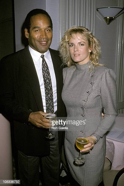 OJ Simpson and Nicole Brown Simpson during Fight Against Paralysis Benefit at Waldorf Astoria Hotel in New York City New York United States