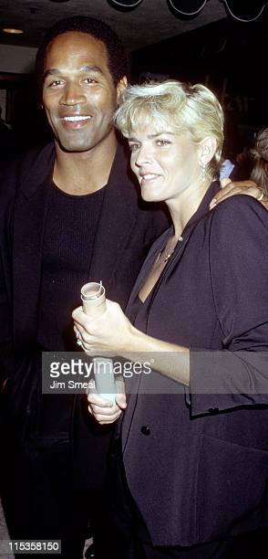 OJ Simpson and Nicole Brown Simpson during 'Ishtar' Premiere Los Angeles at Plitt Theater in Los Angeles California United States