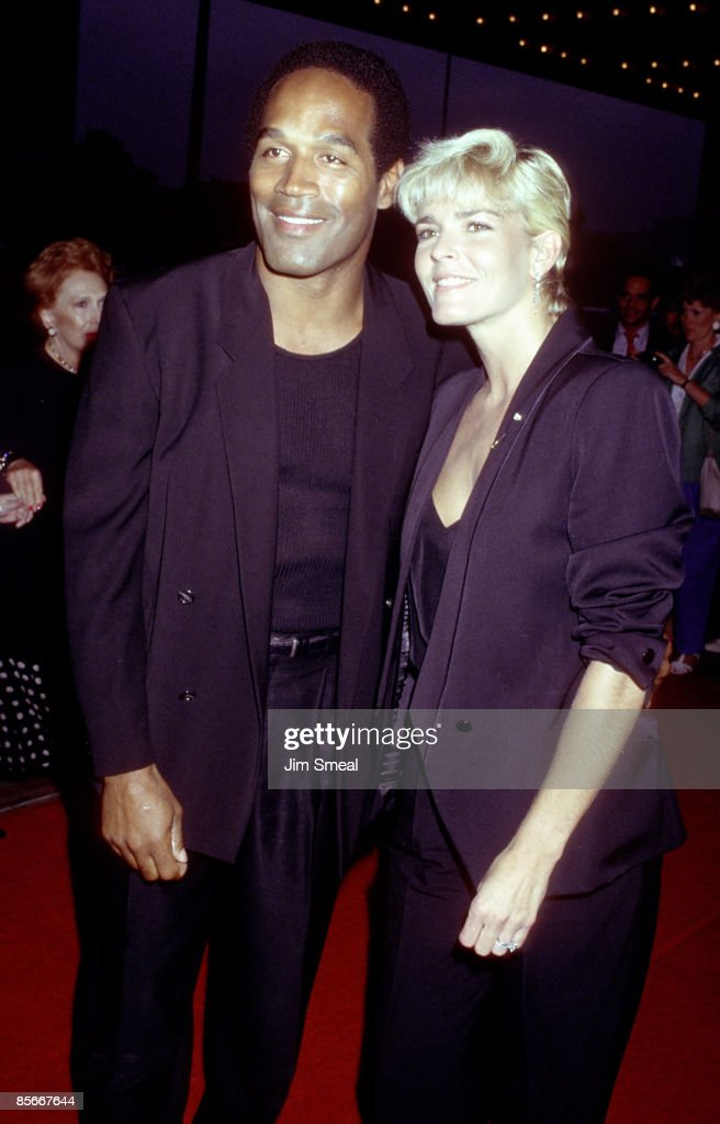 O.J. Simpson and Nicole Brown Simpson during Ishtar