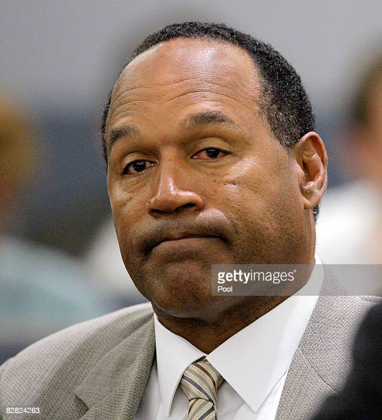 J Simpson appears for the opening day of his trial at Clark County Regional Justice Center on September 15 2008 in Las Vegas Nevada Simpson is...